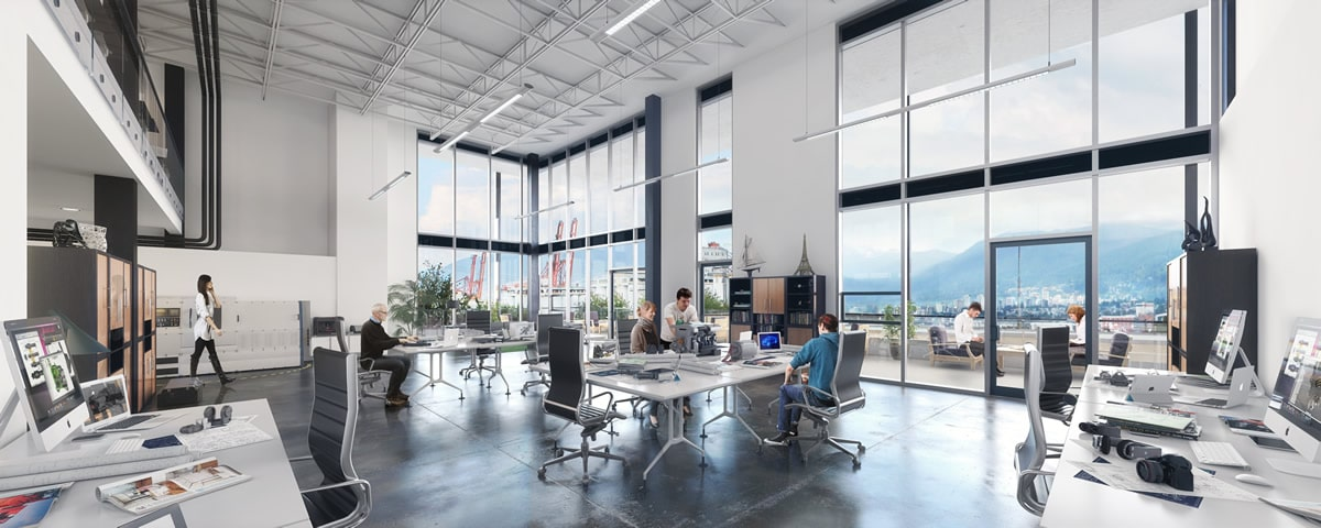 Commercial Real Estate at IRONWORKS Vancouver Interior