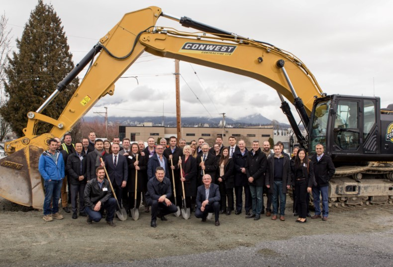 Vancouver Ironworks Commercial Development ground breaking